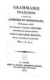 Grammaire françoise à l'usage des athénées et pensionnats
