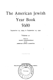 American Jewish Year Book: Volume 21