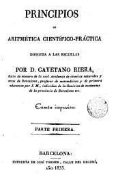 Principios de Aritmética cientifico-practica: dirigida a las escuelas