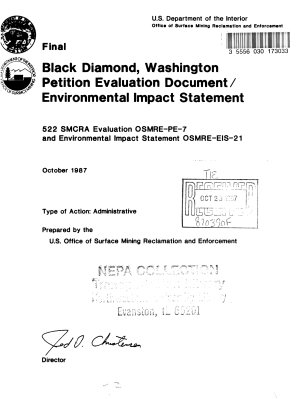 Black Diamond Petition Evaluation Document PDF