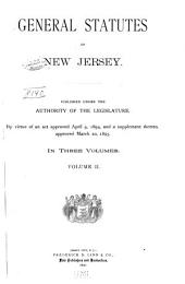 General Statutes of New Jersey: Volume 2