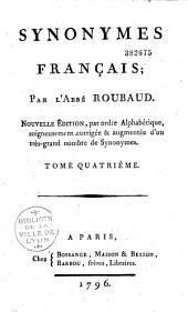 Synonymes français, par l'abbé Roubaud