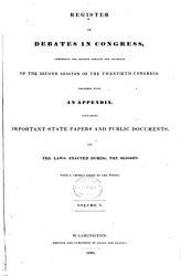 Register Of The Debates In Congress  Book PDF