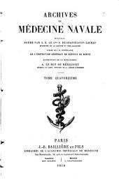 Archives de médecine navale: Volume 14