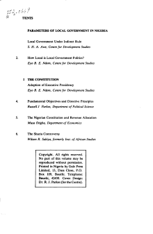 Selected Papers on Local Government and the Constitution PDF