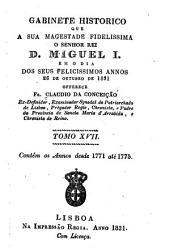 Gabinete historico: Desde 1771 até 1775. 2. ed. 1894