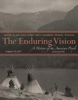 The Enduring Vision  A History of the American People  Volume I  To 1877 PDF