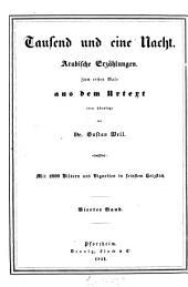 Tausend und eine Nacht: arabische Erzählungen, Band 4