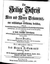 Die Heil. Schrift, nebst einer vollstaendigen Erklaerung derselben aus den Anmerkungen Englaend. Schriftsteller: Band 18