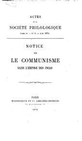 Notice sur le communisme dans l'empire des Incas