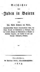 Geschichte der Juden in Bayern