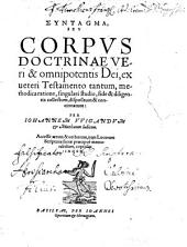 Syntagma seu Corpus doctrinae Dei