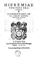Hieremiae Thriveri Brachelii Commentarii in VII. libros aphorismorum Hippocratis