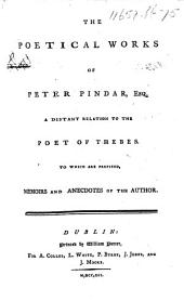 The Poetical Works of Peter Pindar, Esq., Etc