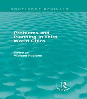 Problems and Planning in Third World Cities  Routledge Revivals  PDF