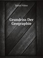 Grundriss Der Geographie