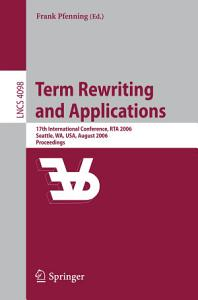Term Rewriting and Applications Book