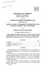 Circular of the Bureau of Standards: Issues 126-164