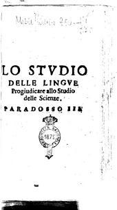 Lo studio delle lingue progiudicare allo studio delle scienze. Paradosso 3. [Ostilio Contalgeni]