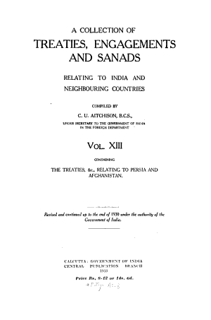A Collection of Treaties  Engagements and Sanads Relating to India and Neighbouring Countries PDF