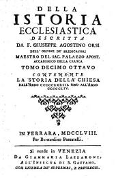 Della istoria ecclesiastica descritta da F. Giuseppe Agostino Orsi ... tomo primo [-ventesimo]: Tomo decimo ottauo contenente la storia della Chiesa dall'anno 533. fino all'anno 554, Volume 1;Volume 18
