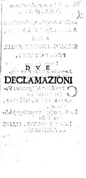 Due declamazioni