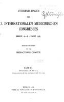 Verhandlungen des X  Internationalen medicinischen Congresses v  3 PDF