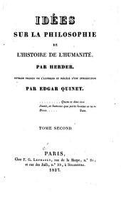 Idées Sur la Philosophie de L'histoire de L'humanité: Volume 2