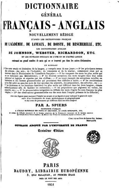 Download Dictionnaire g  n  ral fran  ais anglais Book