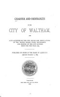 Charter and Ordinances of the City of Waltham PDF
