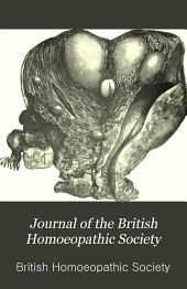 Journal of the British Homoeopathic Society: Volume 6