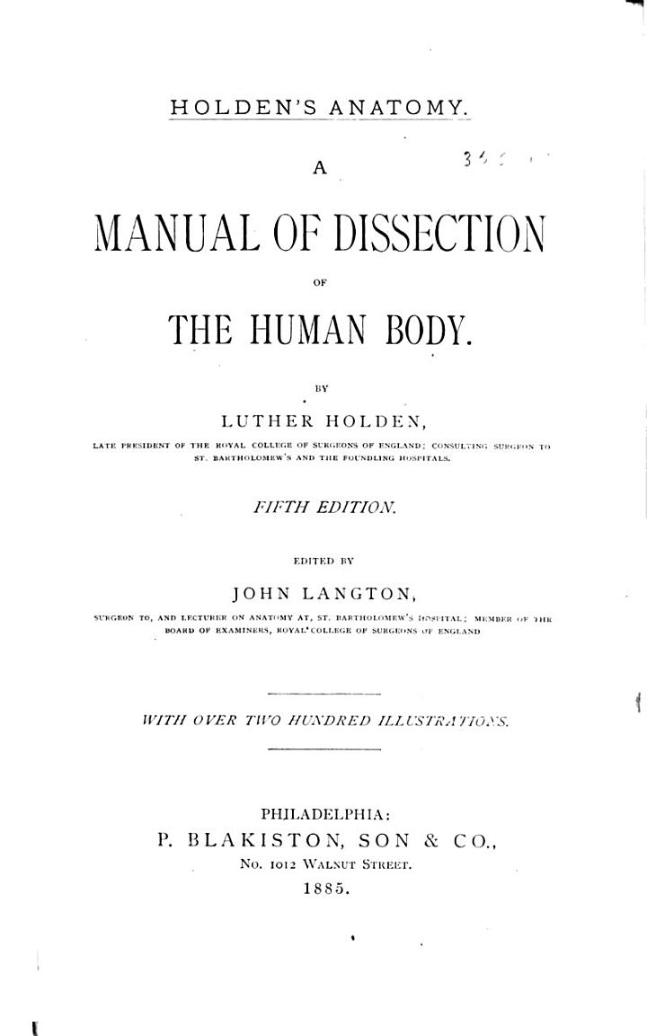 Holden's Anatomy