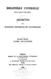 Archives des sciences physiques et naturelles: Volume8