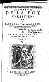Confession de la foy chretienne