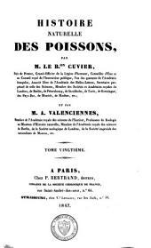 Histoire naturelle des poissons: Volume20