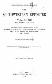The Southwestern Reporter: Volume 230