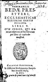 Ecclesiasticae historiae gentis Anglorum: lib. 5