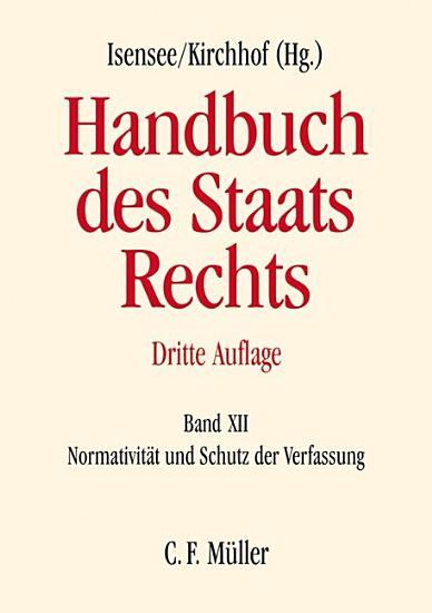 Handbuch des Staatsrechts PDF