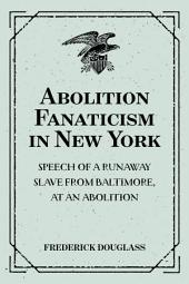 Abolition Fanaticism in New York: Speech of a Runaway Slave from Baltimore, at an Abolition: Meeting in New York, Held May 11, 1847