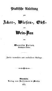Handbuch der praktischen Landwirthschaft: Band 1