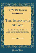 The Immanence of God PDF