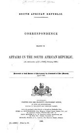 Correspondence Relating to South African Republic