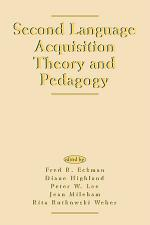 Second Language Acquisition Theory and Pedagogy