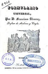Formulario universal: Volumen 1