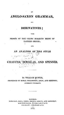 An Anglo Saxon grammar  and derivatives PDF
