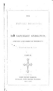 The Private Devotions of Dr. Lancelot Andrewes ...