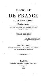 Sous Napoleon, Deuxieme epoque, depuis la paix de Tilsitt en 1807 jusqu'en 1812: 7-10