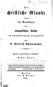 Friedrich Schleiermacher's sämmtliche Werke: Teil 1,Ausgabe 3