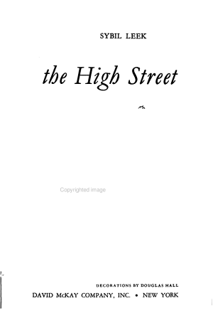 A Shop in the High Street PDF