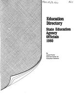Education Directory  State Education Agency Officials PDF